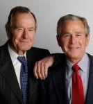 George W. Bush with George H.W. Bush