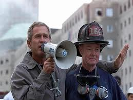 Image result for GWB 9/11 bullhorn address meme they are all going to hear you