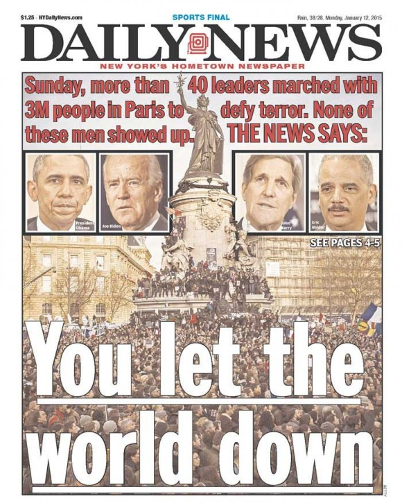 New York Daily News Paris bombing 2
