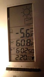 Thermometer -5.6