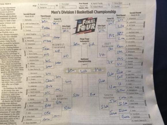 Jeb Bush NCAA brackets 2015