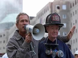 George W. Bush bullhorn speech