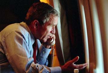 George W. Bush 40 9-11 airplane pic