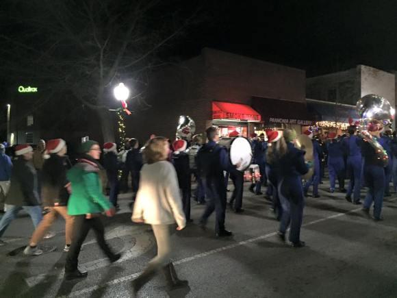 Christmas Blacksburg 4 VT band