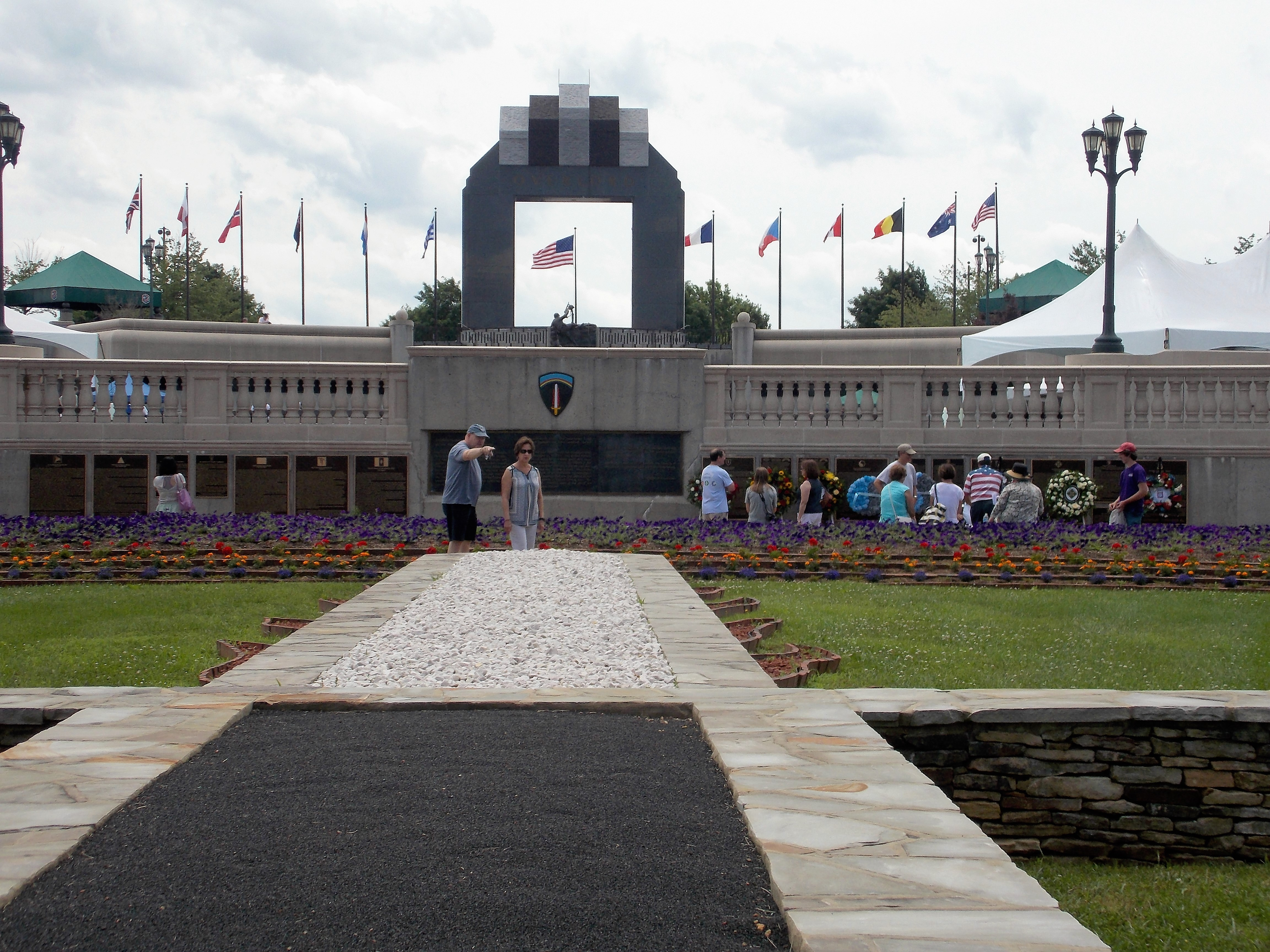Monday Was Busy Since It Was The Anniversary Of The Invasion So Hundreds Attended The Ceremony With Many Staying Afterward To Walk The Grounds