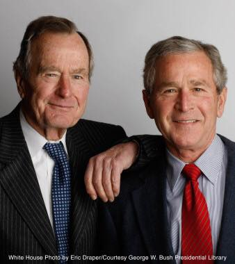 George W. Bush 1 with his dad