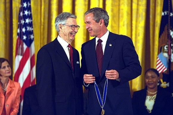 George W. Bush 8 w Fred Rogers